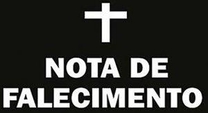 Read more about the article Nota de falecimento do dia 19/11/2019