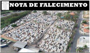 NOTA DE FALECIMENTO DIA 15/01/2020