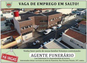 Funerária Saltense abre vaga para agente funerário