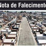 Nota de Falecimento de Benedito da Silva