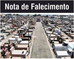 Nota de Falecimento de Adriano Eduardo da Silva