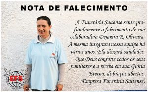 Funerária Saltense lamenta o falecimento de sua colaboradora Dejanira